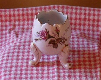 Vintage China Broken Egg Vase/Dish With Footed Legs