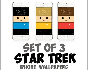 Star Trek iPhone wallpapers: Spock, Scotty, Captain Kirk for iPhone 5, 5c, 5s, 6, 6 Plus | Minimalist, Backgrounds, Case, Gift for Trekkie