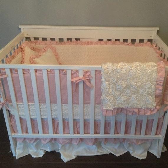 Items Similar To Crib Bedding Dupioni Silk Double Ruffle