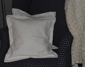 This is two  lovely white Linen pillows, with Flange