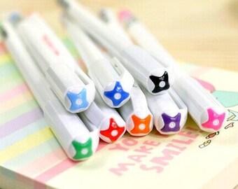 10% OFF Set of 8 colors Monami 0.4mm gel ink pen, marker pen for DIY drawing, writing, signing, graffiti