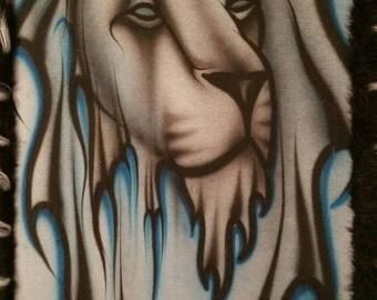 Blue lion art