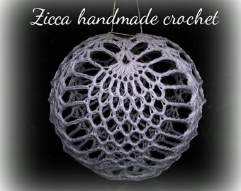 Crochet pineapple christmas ball ornament pdf pattern+symbol diagram