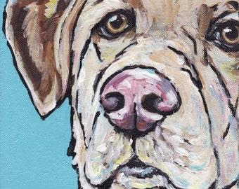 Fun Acrylic  Painting of a Labrador Retriever