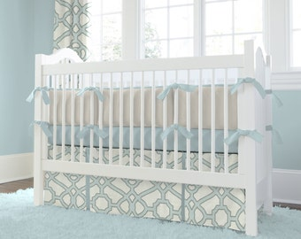 Neutral Baby Crib Bedding Girl Crib By CarouselDesignsShop