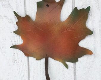 Metal maple leaf, sugar house decor, vermont maple leaf
