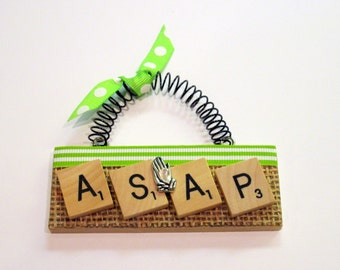 Always Say A Prayer Scrabble Tile Ornament