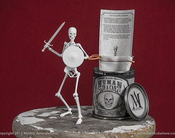 Human Skeleton in a Can 3D Print Drawing Reference Poseable Figure