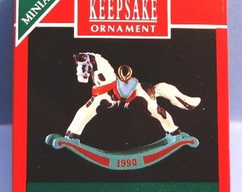 1990 Rocking Horse Hallmark Miniature Series Ornament