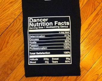 Dancer Nutrition Facts T-shirt