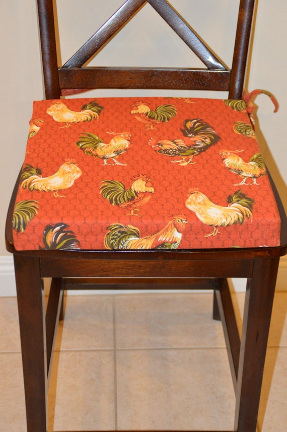 items similar to barn red rooster print dining chair