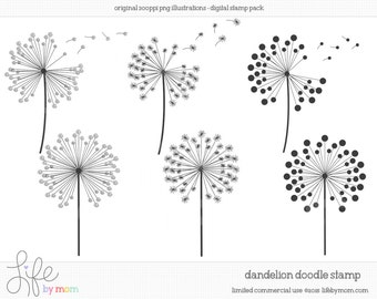 Clip Art Dandelion Clip Art dandelion clip art etsy doodle clipart illustrations digital stamp stamps doodles limited commercial use ok