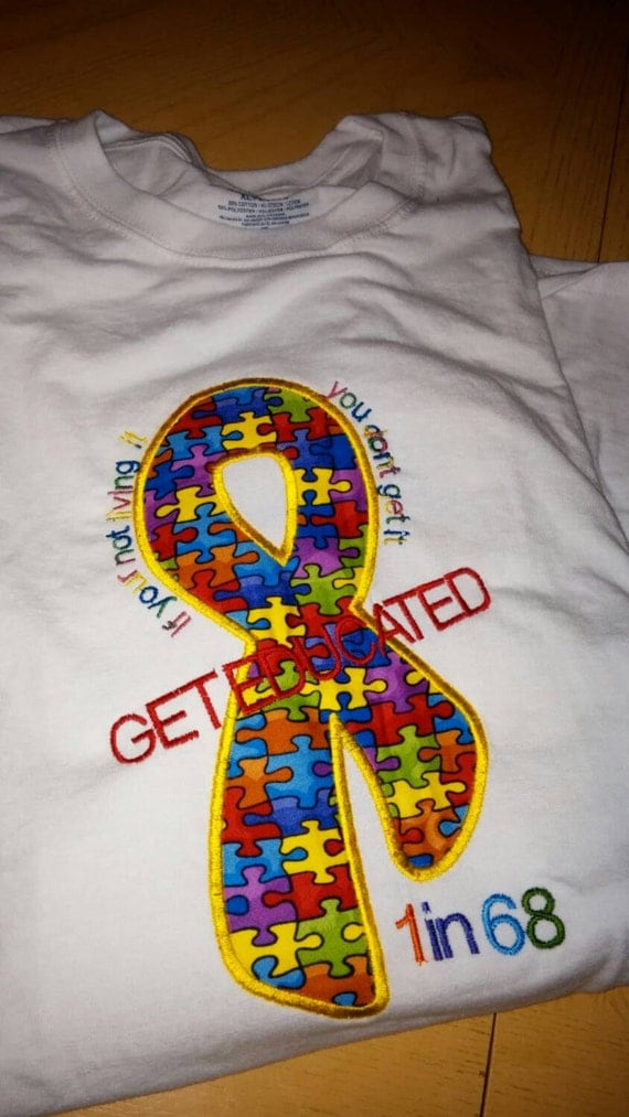 Walk now for autism shirts or race the cure embroidered