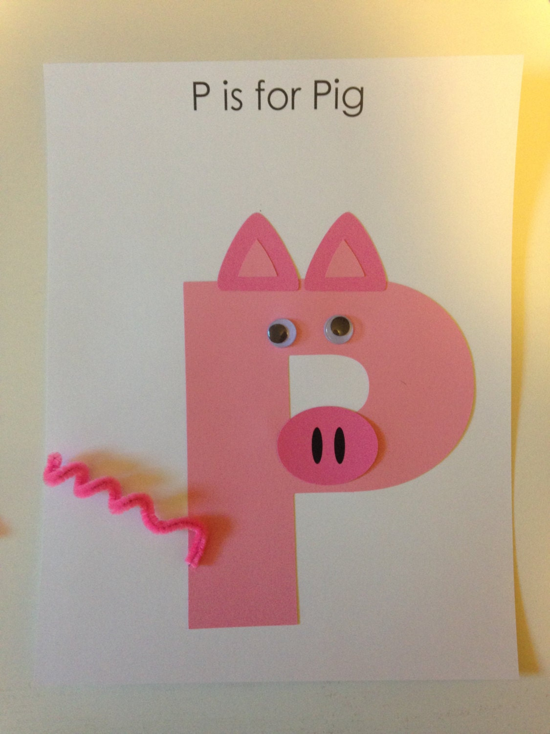 Preschool letter art kit craft for letters a z immediate or for Craft kits for preschoolers
