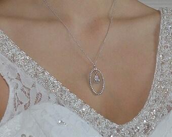 Bridal necklace model Lana Swarovski crystal wedding retro trend  Collier de mariée modéle Lana cristal swarovski mariage tendance rétro