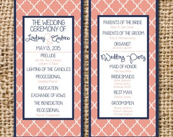 Wedding Program Quatrefoil