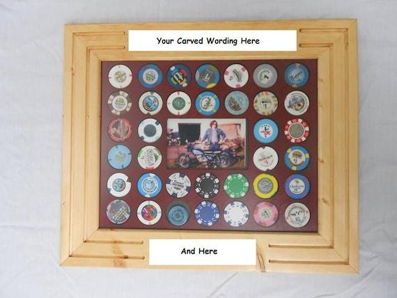 Poker chip frame display