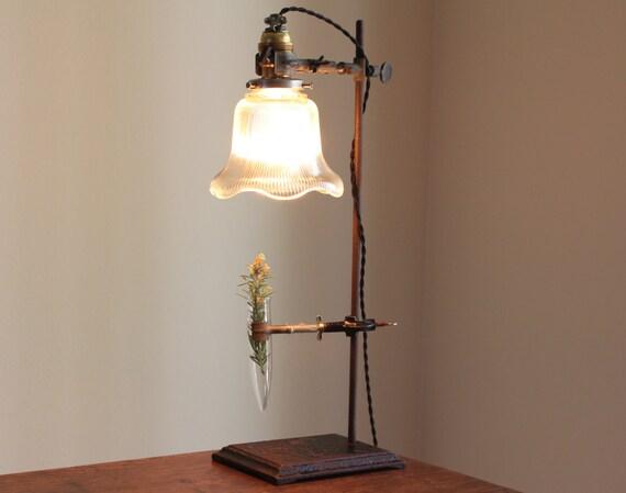 Lampada da tavolo industriale steampunk lampada lampada - Ebay lampade da tavolo antiche ...