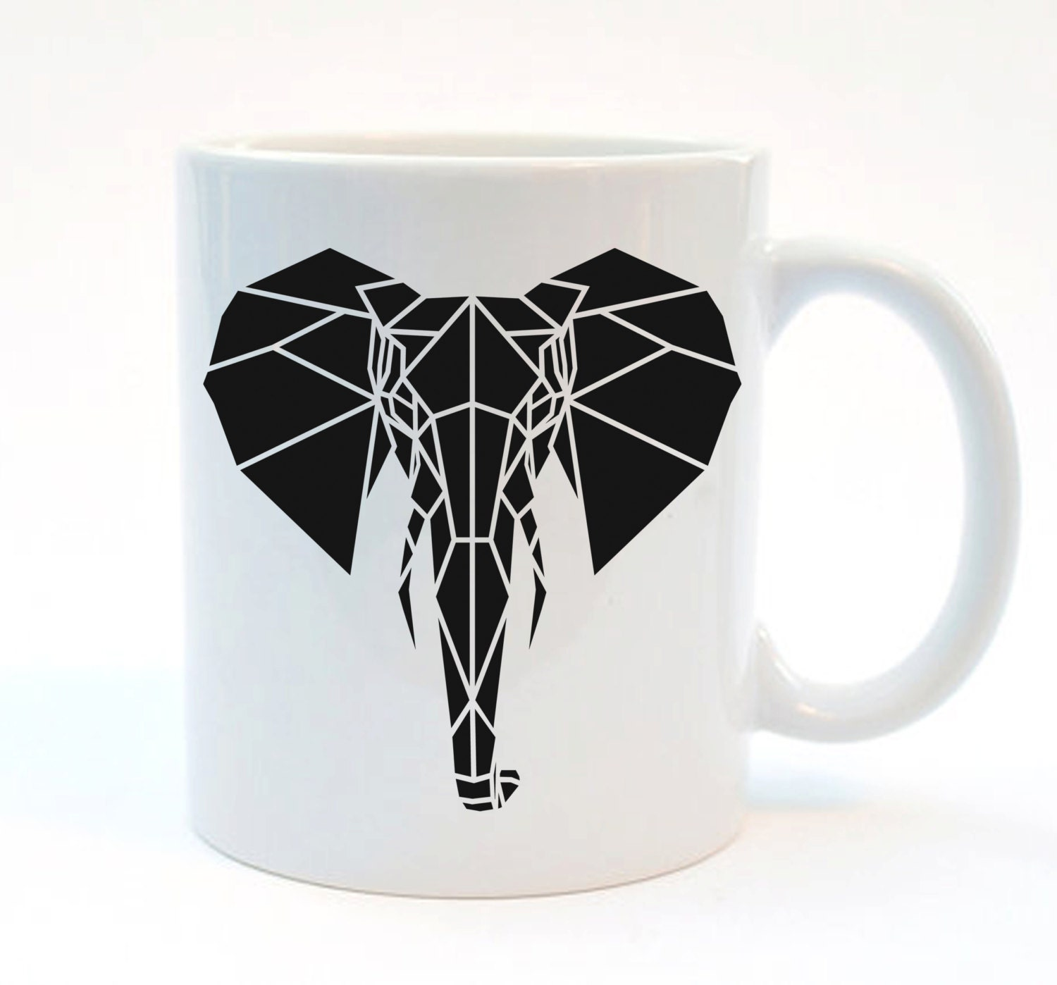Elephant Print Mug Design Black And White Safari Mug By