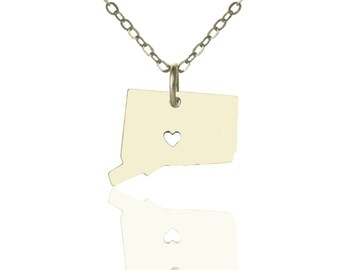Connecticut necklace, CT State necklace, State necklace