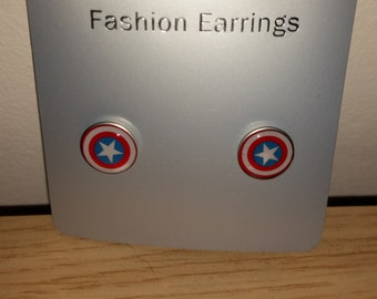 Captain America stud ear-rings