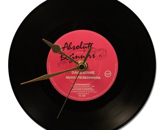 """Clock Vinyl DAVID BOWIE """"Absolute Beginners"""""""