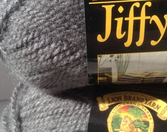 Lion Brand Yarn, Lion Brand Jiffy, Jiffy Yarn, Yarn Lot, Jiffy Lion Brand, Oxford Grey Jiffy, Lion Brand Oxford Grey, Jiffy Grey, Grey Bulky