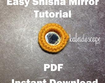 Easy Shisha Mirror Tutorial PDF DIY Step-by-Step Instruction
