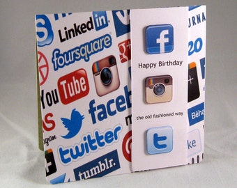 Happy Birthday the old fashioned way-Social media card