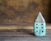 Miniature Cob House - Hand Sculpted Clay House By MyMindsAttic - Rustic - Ready To Ship