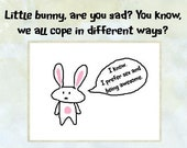 Funny Spiffy Little Bunny Card for birthday / get well / anniversary - Adult humour advised!
