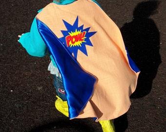 superhero cape custom dress up costume handmade POW