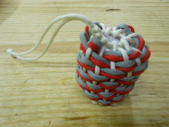 Paracord pouch bag drawstring ohio state by paracamp on etsy for Paracord drawstring bag