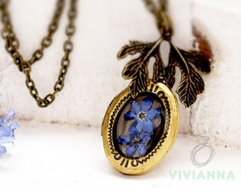 Medallion chain necklace with forget K219
