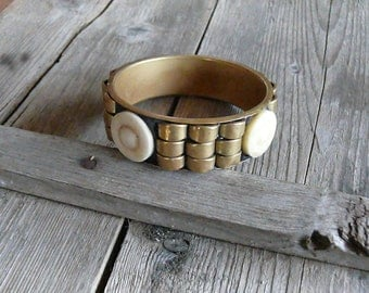 Chunky brass bracelet