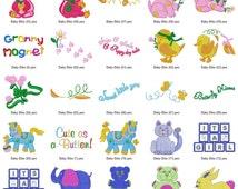 Baby Nursery Bib Embroidery Designs INSTANT DOWNLOAD 150 Designs pes jef