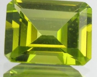 2.0CT PERIDOT Gem, Emerald Cut