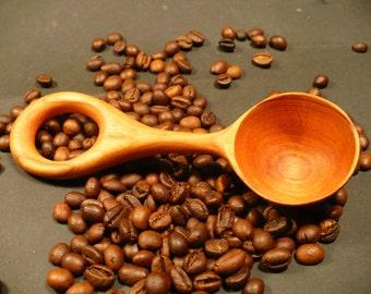 Coffee scoop, coffee spoon, hand made coffee scoop, wooden coffee scoop, plum wood coffee spoon