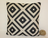 Pillow Cover On Sale !! Kilim Linen Pillow Cover, Aztec Pillow Cover, Tribal Pillow Cover, 18x18 Decorative Throw Pillow
