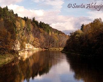 Autumn in Sigulda, Latvia - Fine Art Photography - autumn photo print 8x12, autumn photography, autumn nature, autumn scenery print, fall