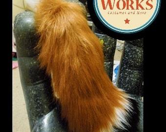 Red Fox Tail--MEDIUM, CUSTOM COLOR, Furry, Fox, Fox Tail, Wilde, Natural fox Tail, Head band ears, Fox, Wilde, Fox Costume, Fox Cosplay