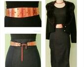 1950s to 1960s  Renoir Copper Metal Studded Belt Mid Century Costume Jewelry Designer Adjustable