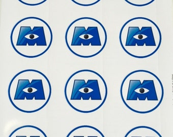 Monsters Inc/ Monsters University Logos (stickers only)