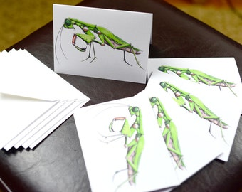 Praying Mantis Robotic Insect Blank Card