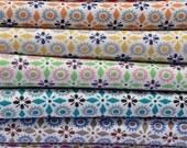 Vintage Kei Japanese Fat Quarter Bundle of 7  Fabrics