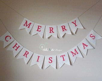 MERRY CHRISTMAS burlap banner /Holiday Photo props / Christmas banner / Christmas home decor / merry christmas bunting / christmas sign