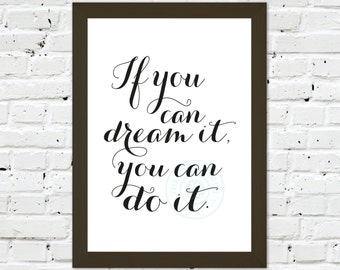 0109 Typographic Print A3 Wall Art Print Multiple Sizes