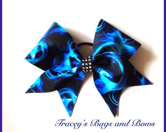 Cheer Bow~Blue and Black~softball bow