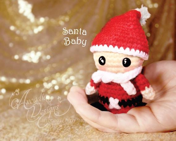 Amigurumi Crochet Christmas Ornaments : Christmas Ornament Crochet Amigurumi Santa Claus Baby