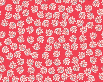 Verona fabric, Riley Blake Designs, Leaves in Rouge (C2802) -- BY THE YARD